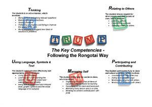 Key Competencies at Rongotai College